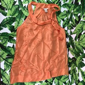 5 for $25 J. Crew Orange Silk High Neck Tank